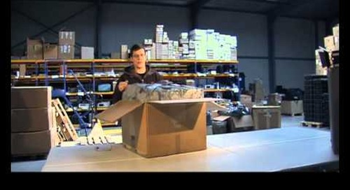 How to video: Unpacking a box when renting test equipment | Electrorent Europe