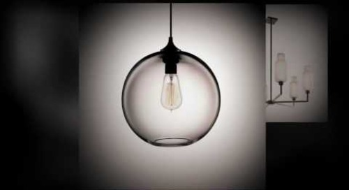 Handmade Glass Modern Pendant Lighting by Niche