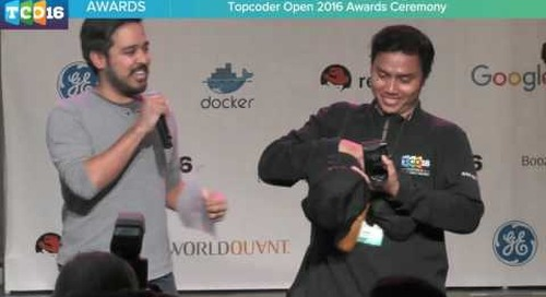 Topcoder Open 2016 - Award Ceremony #programming #design