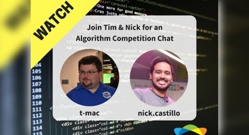 Topcoder Team Live - Algorithm Week w/ Tim Kirchner