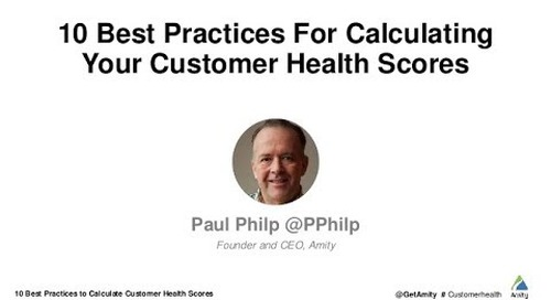 10 Best Practices For Calculating Customer Health Scores
