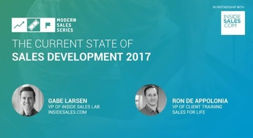Modern Sales Series: The State of Sales Development 2017