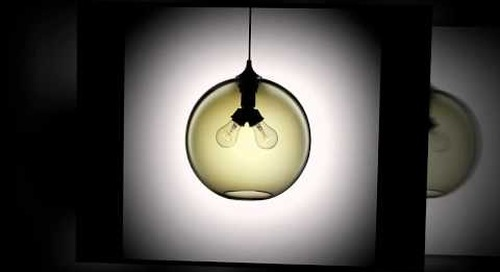 Niche Modern Handmade Glass Pendants in Smoke
