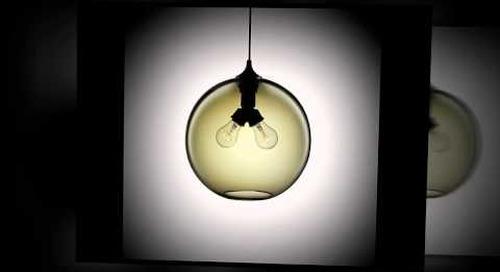 Niche Modern Handmade Glass Pendants in Smoke