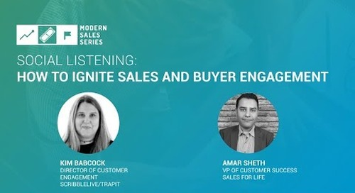 Social Listening: How to Ignite Sales and Buyer Engagement
