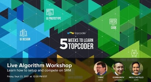 Algorithm Workshop - 5 Weeks to Learn Topcoder