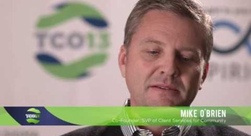 2013 TopCoder Open - Co-Founder, Mike O'Brien Talks Community