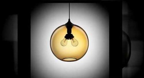 Amber Modern Pendant Lighting Feature