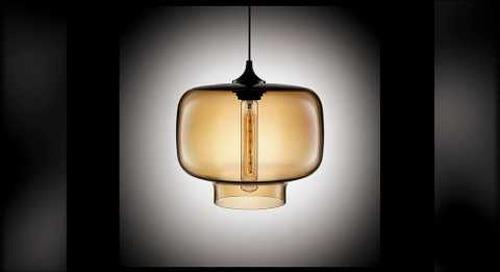 Niche Modern Handmade Pendants in Amber
