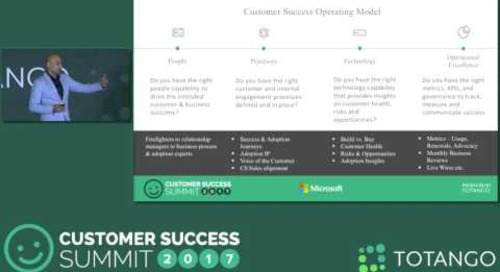 Customer Success at the Enterprise - Customer Success Summit 2017