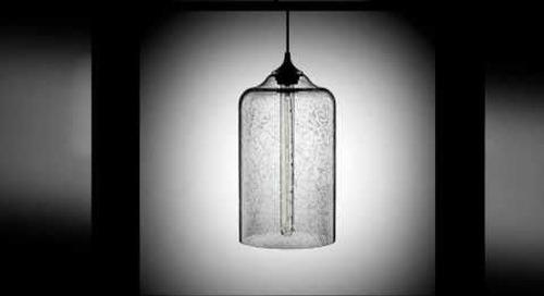 Modern Pendant Lighting in Effervescent Blown Glass