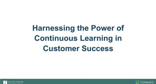 Harnessing the Power of Continuous Learning in Customer Success with Waterstone