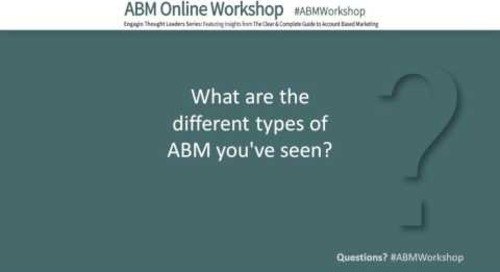 Engagio ABM Workshop: Kathy Macchi - Implementing ABM: The Road to Success