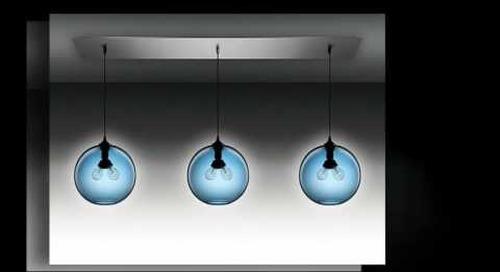 Niche Modern Chandeliers with Sapphire Pendant Lights