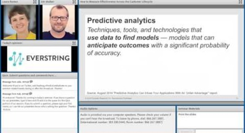 Predictive Marketing: How to Measure Effectiveness Across the Customer Lifecycle
