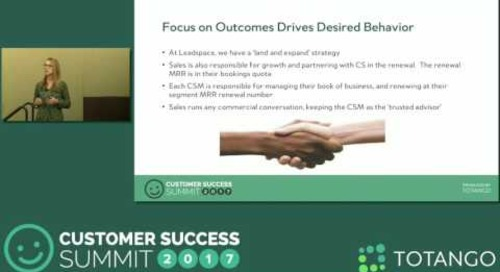 [Track 1] Creating Synergy Between Sales & Customer Success - Customer Success Summit 2017