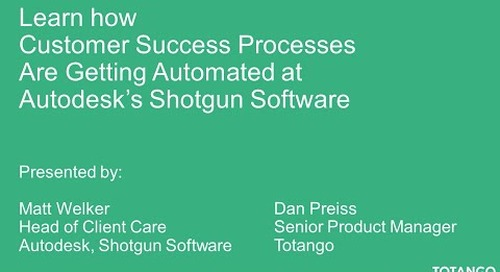 Learn How Customer Success Processes are Getting Automated at Autodesk