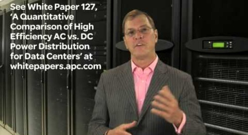 Schneider Electric's Neil Rasmussen on AC vs DC Power Distribution