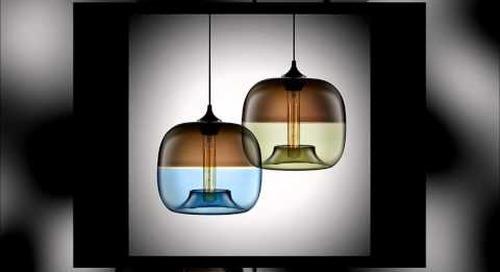 Niche Modern Encalmo Stamen Handmade Glass Pendant Lamps