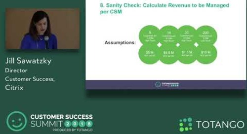 The Value Play - Finding the Right Level of Engagement - Customer Success Summit 2018 (Track 3)