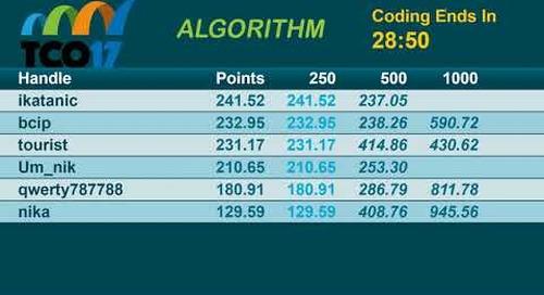 TCO17 Algorithm Semi Finals Round 2
