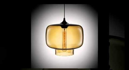 Modern Amber Pendant Lighting by Niche Modern