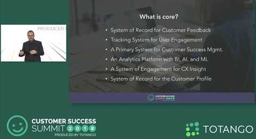 The Fusion of CX and CS - Customer Success Summit 2018