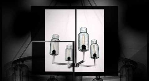 Niche Modern Chandeliers with Effervescent Pendant Lamps