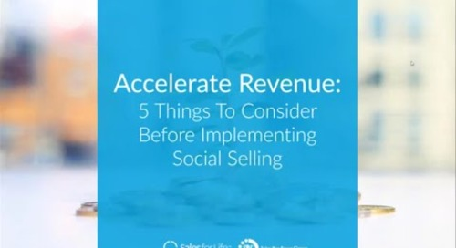 Webinar:  5 Things To Consider Before Implementing Social Selling