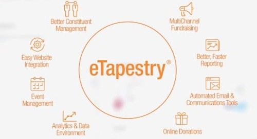 Introducing the new eTapestry® - Fundraising Starts Here