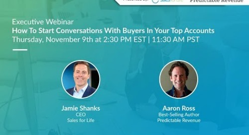 Webinar: How To Have Conversations With Buyers In Your Top Accounts