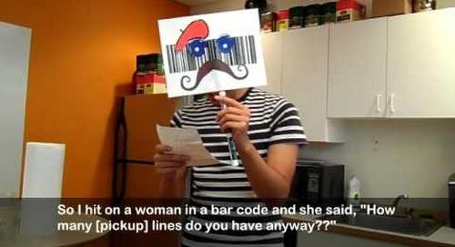 Monsieur Barcode Tells Some Jokes