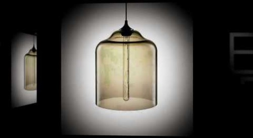 Bell Jar Modern Pendant Light by Niche Modern