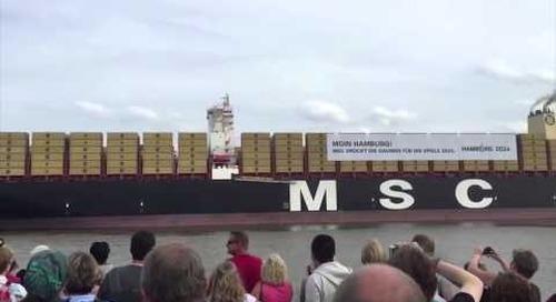 Cargo ship sings Star Wars theme song