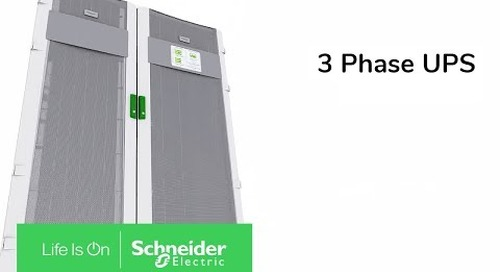 3 Phase UPS Innovation from Schneider Electric