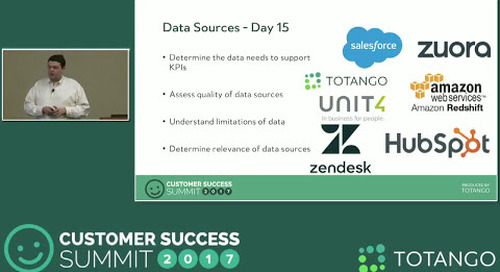 [TRACK 2]  The First 90 Days - A Customer Success Implementation - Customer Success Summit 2017