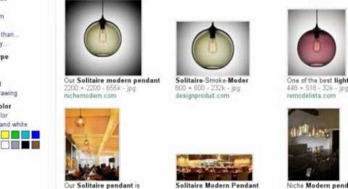 Solitaire Modern Pendant Light - Search Story