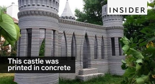This castle was printed in concrete