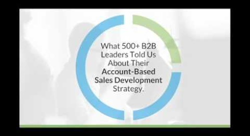 [Executive Webinar] The State of Account Based Sales Development