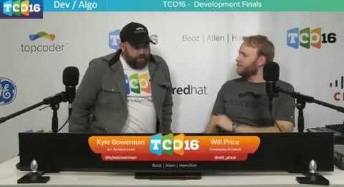 Topcoder Open 2016 - Algo Semifinals Group 2 / Dev Finals #programming #design