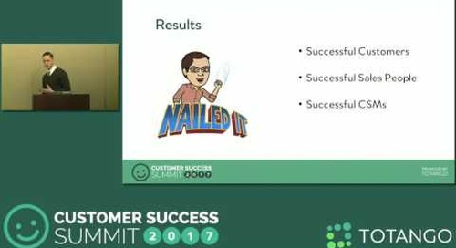[Track 1]  Metrics That Bridge Sales and Customer Success - Customer Success Summit 2017