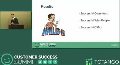 [Track 1]  Metrics That Bridge Sales and Customer Success - Customer Success Summit 2017