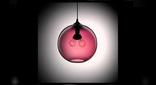 Niche Modern Handmade Pendant Lights in Plum