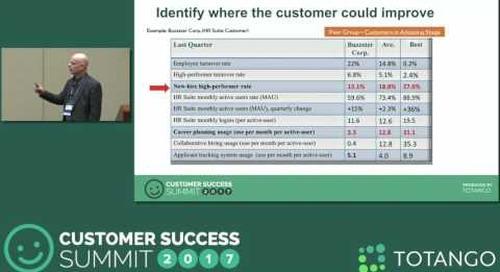 [Track 3] Customer Benchmarking at Customer Success Organizations - Customer Success Summit 2017
