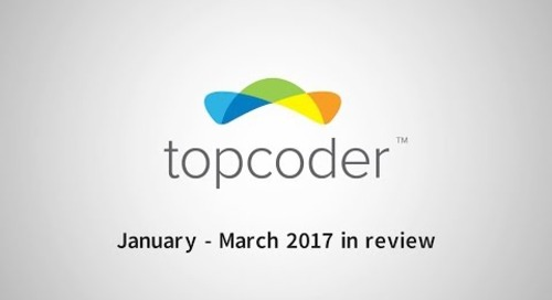 Topcoder - January - March 2017 in Review