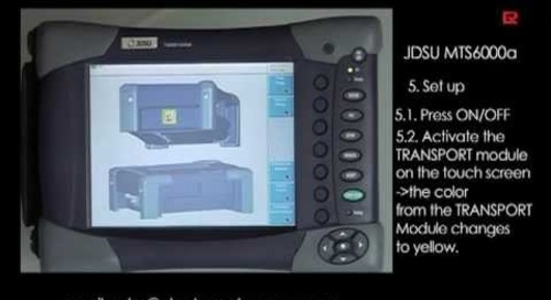 How to video: JDSU MTS6000A Ethernet LAN   Electro Rent Europe