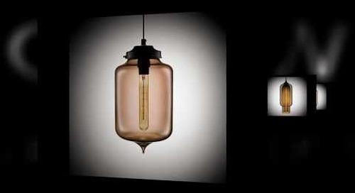 Niche Modern Blown Glass Pendant Lights in Chocolate
