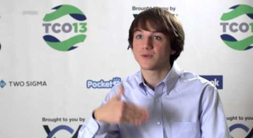 2013 TopCoder Open - Meet the Community - Jack Andraka