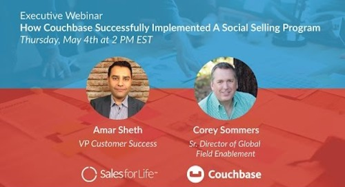 Webinar: How Couchbase Successfully Implemented A Social Selling Program