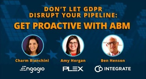 Don't Let GDPR Disrupt Your Pipeline: Get Proactive with ABM  |  Engagio
